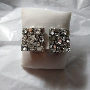 Weiss vintage rhinestone. Earrings.